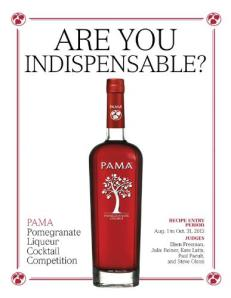 PAMA POMEGRANATE LIQUEUR COCKTAIL COMPETITION