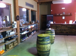The tasting room at Black Button Distilling in Rochester