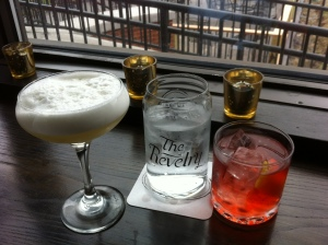Our first two cocktails at the opening reception at The Revelry