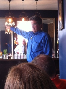 Joe Fee at Cheshire discussing the finer points of bitters