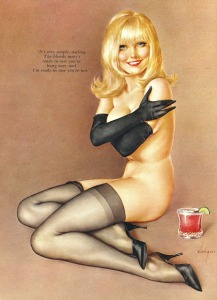 Illustration by Alberto Vargas from Playboy magazine, March 1967